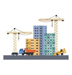 flat construction vector image