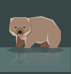 Flat design wombat vector