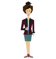 flat female office worker secretary librarian vector image