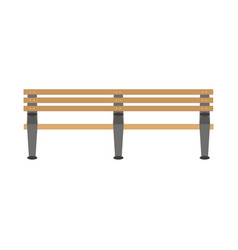 flat style wooden bench icon vector image