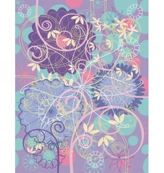 floral greeting card background vector image