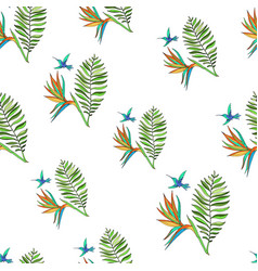Floral tropic seamless pattern vector
