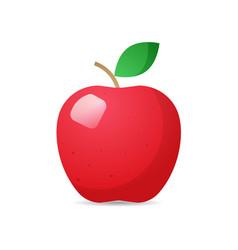 Fresh juicy red apple icon tasty ripe fruit vector