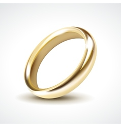 Gold Wedding Ring Isolated vector image