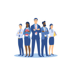 group people men and women in business suits vector image