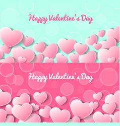 Happy valentines day greeting card templates vector