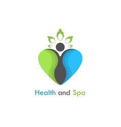 health amp spa logo design templatehealthcare vector image