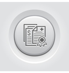 Health Insurance Policy Icon Grey Button Design vector