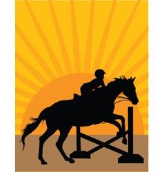 Horse jumper vector