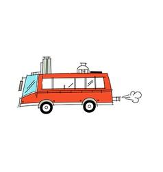 icon bus vector image