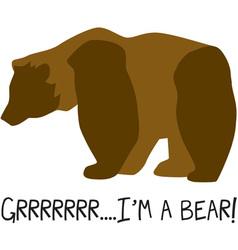Im A Bear vector