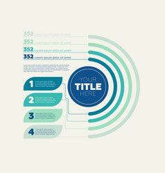 infographics elements pie chart 4 steps and vector image