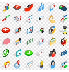 Interchange icons set isometric style vector