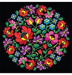 Kalocsai folk art embroidery - Hungarian vector