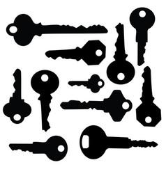 Key silhouette vector