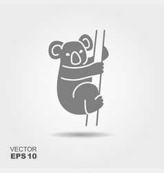 koala flat icon vector image