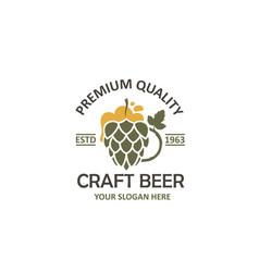 label beer glass vector image