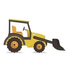 Large yellow bulldozer vector image