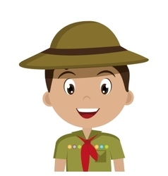 Little scout character icon vector