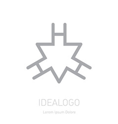 logo with triangle and letter H Logotype template vector image