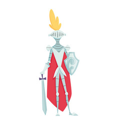 medieval kingdom character middle ages historic vector image