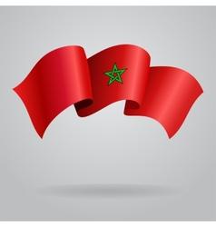 Moroccan waving Flag vector image