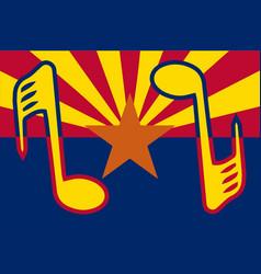 Musical arizona state flag vector