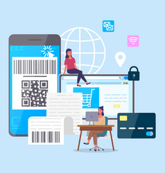 online trading composition with gadgets vector image