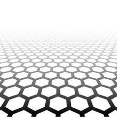 Perspective grid hexagonal surface vector