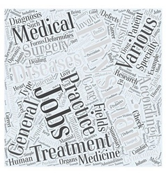 Physician Jobs Word Cloud Concept vector