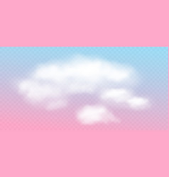 pink sky pastel cloud realistic vector image