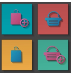 Purchase icons set vector