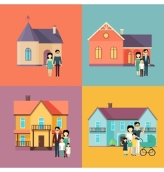 Real Estate Concept in Flat Design vector image