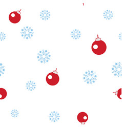 red balls for decorating a christmas tree and vector image