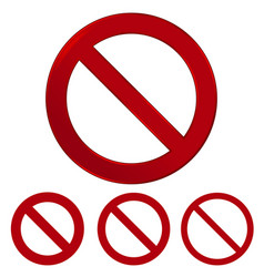 red prohibition sign warning circle and vector image