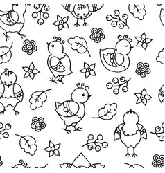 Seamless pattern with abstract funny chickens vector