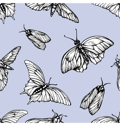 Seamless pattern with butterflies Stylish vector