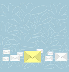 Several closed color envelopes with big one in vector