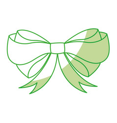 shadow christmas bow cartoon vector image