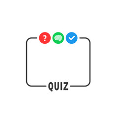 simple frame like template quiz game vector image