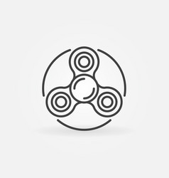 Spinner thin line icon vector