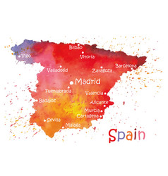 stylized map of spain vector image