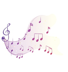 The different musical notes vector