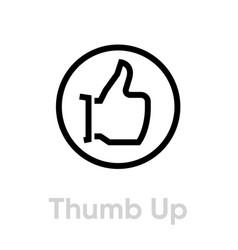 thumb up down icon editable line vector image