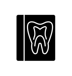 Tooth record - medical dentist report icon vector