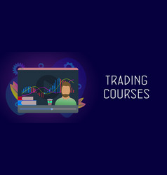 Trading courses - distance learning vector