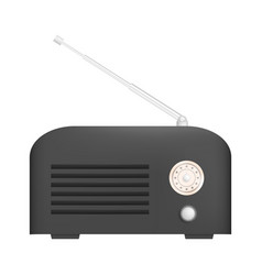 Tuning radio icon realistic style vector