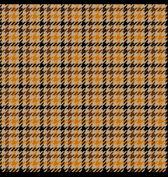 tweed brown houndstooth seamless pattern vector image