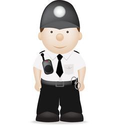 uk policeman vector image