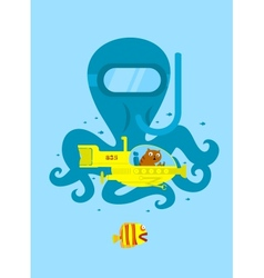 Underwater adventure vector image